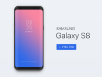[Free PSD] Samsung Galaxy s8 Mockup
