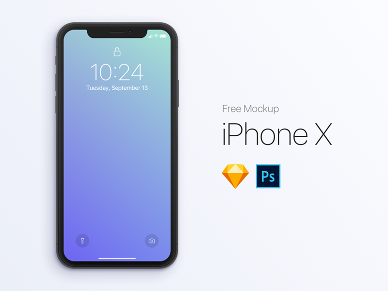 Free Iphone X Mockup Template Psd Sketch Photo Mobile Interface