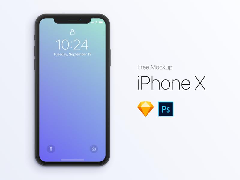 Iphonex mockup dribbble 800