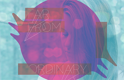 Far From Ordinary type design cover mix music