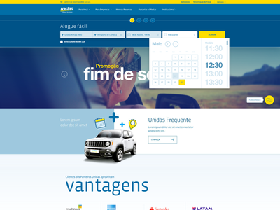 Unidas Rent-a-Car website