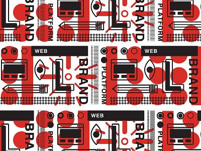 Repeat Pattern web print fun promo design pattern illustration