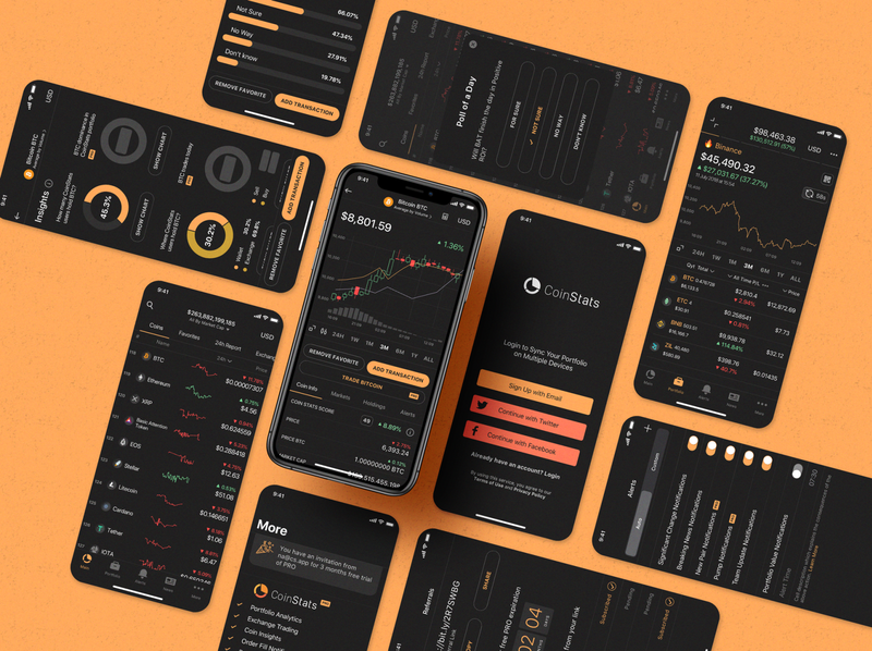 CoinStats iOS Application ux uiux ui application sketch app crypto exchange crypto currency crypto wallet cryptocurrency wallet exchange bitcoin binance