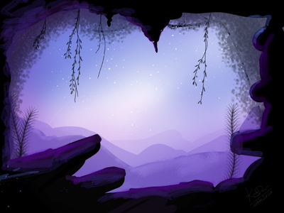 Cave bg purple shaded cave sketch app mobile sketch bg