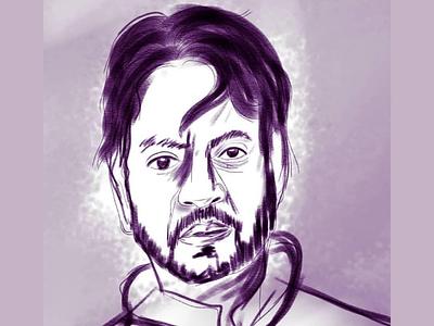 RIP Legend hand sketch legend bollywood actor irfan khan
