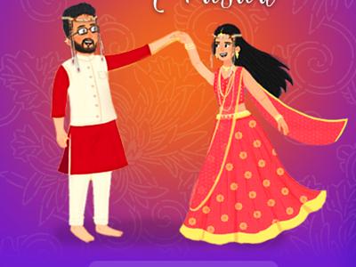 Wedding Invitation Doodle indian wedding chata doodle wedding invitation