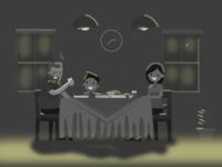 Dinner in Dark