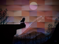 Lion King with Paper Effect