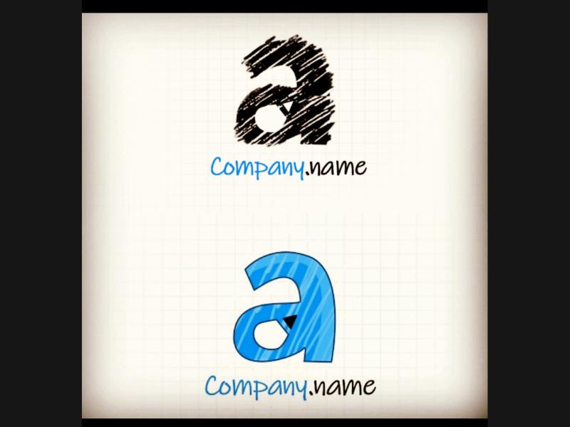A with Pencil logo sketch pencil a logo