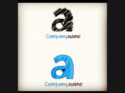 A with Pencil logo
