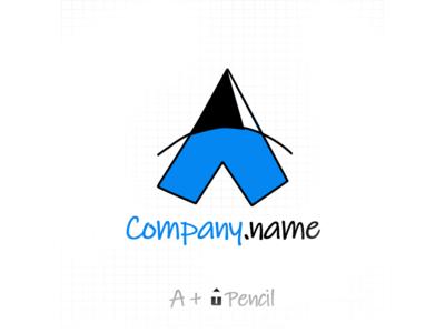 A + Pencil Logo