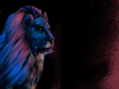 Lion- Visual art