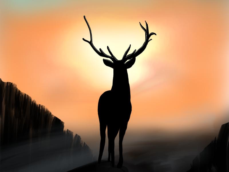 Deer sketchbook mobile deer