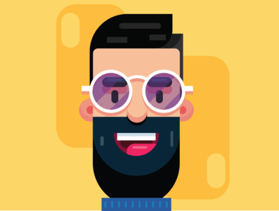Flat Character Design cinema4d app branding vector sketch illustration photoshop illustrator visuals design