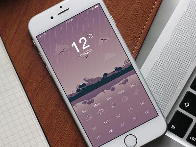 Weather app - UI/UX/Visuals app mobile weathertracking weatherapp tracking weather illustrator photoshop design ui visuals illustration