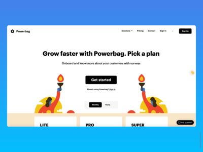 Powerbag - Pricing Page