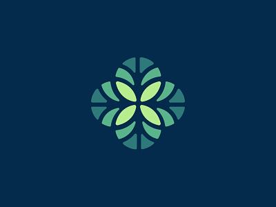Logo (WIP) brand identity life health rose window leaves logo
