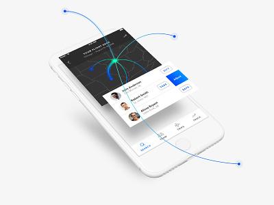 Flight Search App user experience user interface web mobile iphone ux ui app flight