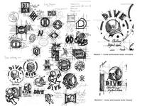 Sketch logo Design Dive logotype logodesign icon branding design brand design sketch illustration logo design typography andreabusnelli logo