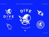 Dive Hybridwear Identity logo app logotype logodesign brand design logo design branding typography lettering icon andreabusnelli logo