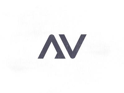 AV logo andreabusnelli font triangle av v a gray logo lettering