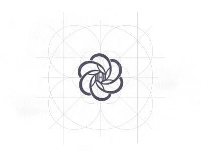 Hera Logo andreabusnelli h design grid flower of life flower logo