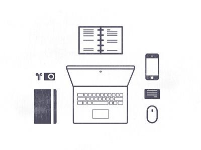 Work station - illustration desk station apple design graphic design illustration work station work