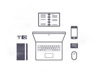Work station - illustration