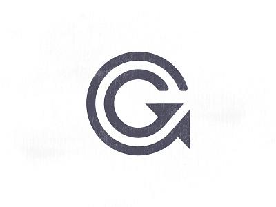 G logo alphabet lettering economy arrow grow goal design logo g game