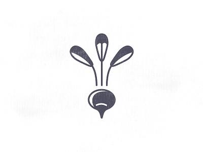 Radish logo bio green plant potato vegetables fruit icons icon radish