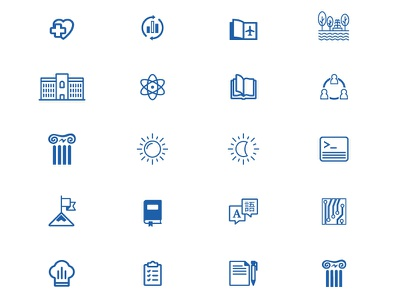 Free School Icons Set iconset college blue template free download icons school