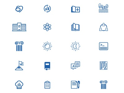 Free School Icons Set