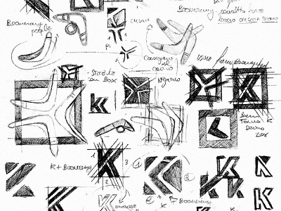 K + Boomerang logo sketch typography illustration vector icon andrea busnelli logo identity logo mark logo designer logo design logo drawings boomerang logo k logo logo logo inspiration logotype logodesign logo ideas logo sketch boomerang k