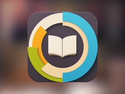 Book Tracker spinner book ios loader blue yellow green tracker icon loading progress bar