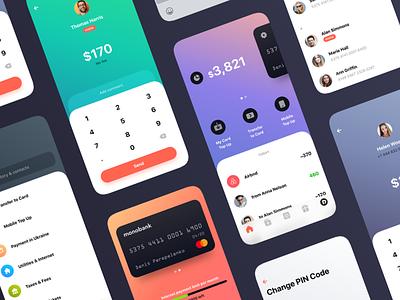 Monobank Enhancements product design mobile payments fintech ios app bank banking redesign ux ui finance monobank