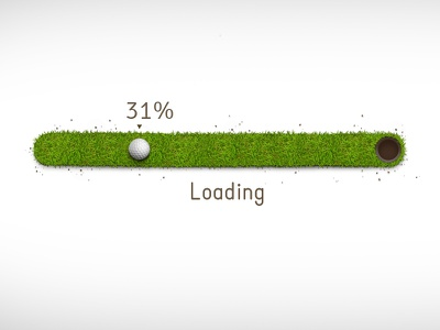 Progress bar spinner progress bar golf grass green ground play loader loading upload ui percent