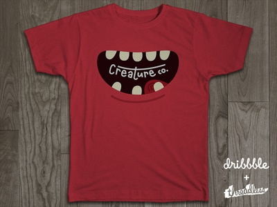 Creature Co. logo rebound illustration drawing t-shirt