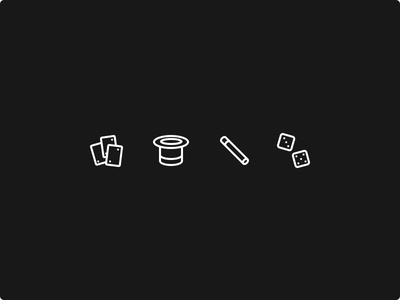Black Magic sketch icons glyphs ios app