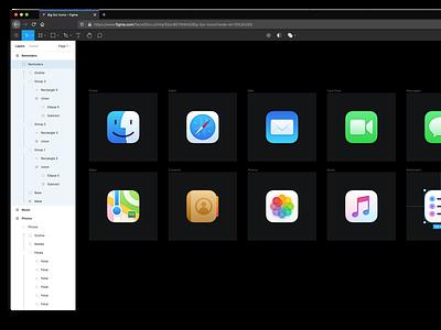 Glacier 2.0 (v1) figma macos icons