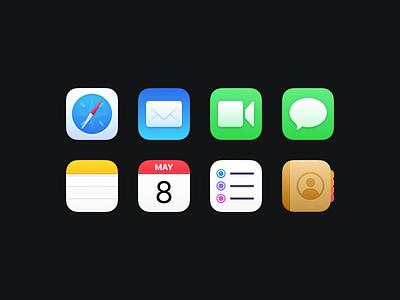 Bondi Icons (Part One) icon set freebie download app icon macosx apple illustration figma macos icons