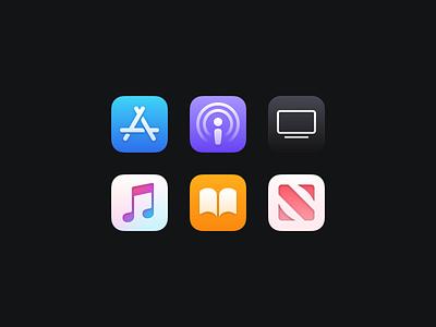 Bondi Icons (Part Two) macosx macos illustration icon set icons icon freebie figma download apple app
