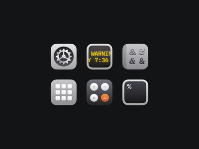 Bondi Icons (Part Four) macosx macos illustration icon set icons icon freebie figma download apple app