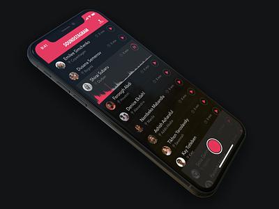 Soundstagram Dark Mode sound dark application ui iphone mobile dark mode sketch ios app