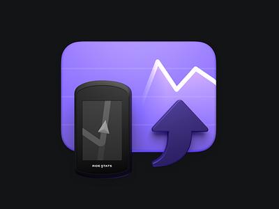 Import Stats 3d blender macos monterey apple logo app icon illustration detail shaders macos macosx app icon