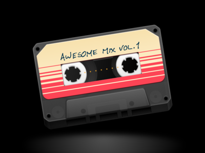 Awesome Mix Vol. 1 marvel guardians of the galaxy cassette star-lord icon sketch