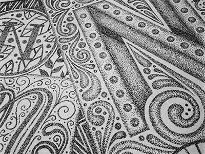 Glyphset - N lettering hand-lettering typography intricate detailed