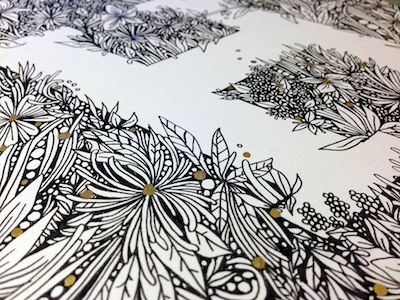 Glyphset - H lettering hand-lettering typography intricate detailed floral