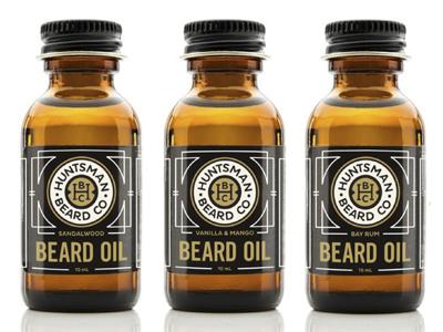 Huntsman Beard Co.  beard oil beard packaging packaging design branding label label design