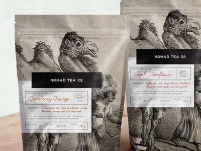Nomad Tea tea tea packaging label packaging packaging design