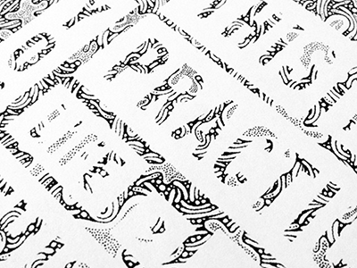 bits detail typography type pattern illustration lettering